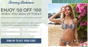 $50 off $100 Purchase Tommy Bahama!