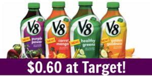 Target: V8 Veggie Blends Only $0.60!