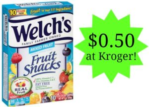 Kroger: Welch's Fruit Snacks as low as $0.50!