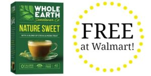 FREE Whole Earth Sweeteners at Walmart!