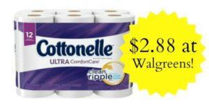 Walgreens: Cottonelle Bath Tissue 12 Big Rolls Only $2.88!