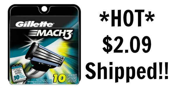 Gillette mach 3 blades coupons