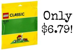 LEGO Classic Green Baseplate Supplement Only $6.79!