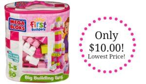 Mega Bloks First Builders Big Building Bag, 80-Piece Only $10.00! Best Price!