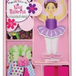 Melissa & Doug Deluxe Nina Ballerina Magnetic Dress-Up Wooden Doll Only $6.69!