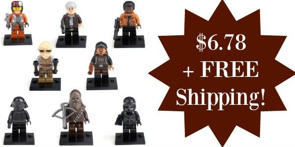 Set of 8 Star Wars Force Awakens Minifigures