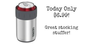 Thermos Stainless Steel Beverage Can Insulator for 12 Ounce Can – $6.99 Today Only!