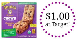 Target: Annie's Granola Bars Only $1.00!