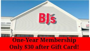 BJ's Inner Circle Membership Only $30 after Gift Card!