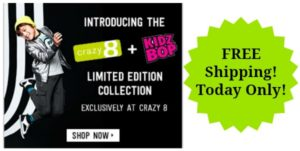 KidzBop Inspired Collection by Crazy 8 plus FREE Shipping Today Only!
