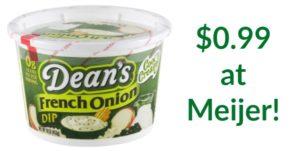 Meijer: Dean's Dips 16-ounce Only $0.99!