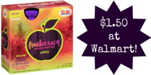 Walmart: Dole Fruitocracy 4-Packs Only $1.50!