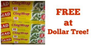 FREE Glad Cling Wrap at Dollar Tree!
