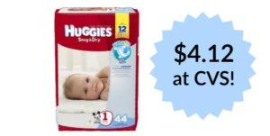 CVS: Huggies Diapers Jumbo Packs Only $4.12!
