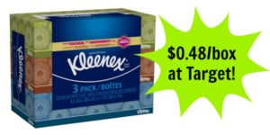 Target: Kleenex Facial Tissue Only $0.48 per Box!