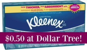 Dollar Tree: Kleenex Boxes Only $0.50!