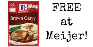 FREE McCormick Gravy Packets at Meijer!