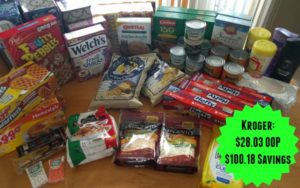 Kroger Shopping Trip – $28.03 OOP, $100.18 Savings!
