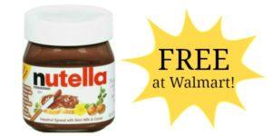 FREE Nutella Hazelnut Spread at Walmart!!