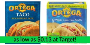 Target: Ortega Products as low as $0.13!
