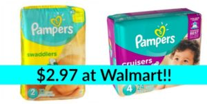 Walmart: Pampers Diapers Only $2.97!