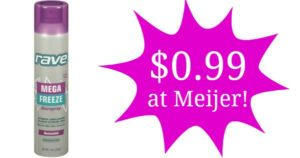 Meijer: Rave Hair Spray Only $0.99!