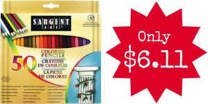 Sargent Art Premium Coloring Pencils, Pack of 50 Only $6.11!