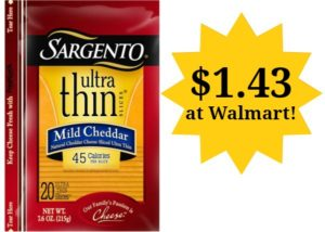 Walmart: Sargento Sliced Cheese Only $1.43!