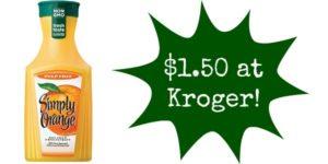 Kroger: Simply Orange Juice Only $1.50!