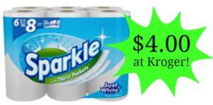 Kroger: Sparkle Paper Towels Only $0.50 per Roll!