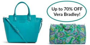 Zulily: Vera Bradley Bags up to 70% OFF!