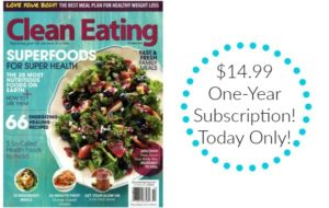 Clean Eating Magazine Subscription Only $14.99! Today Only!