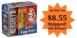 Hershey's Chocolate, Variety Pack, 18 Count as low as $8.55! ($0.48/bar)