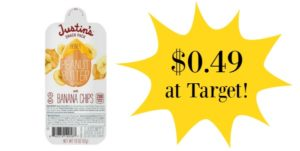 Target: Justin's Peanut Butter & Banana Chip Snack Packs Only $0.49!