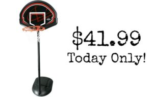 Lifetime Youth Height Adjustable Portable Basketball System – $41.99 Today Only!