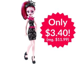 Monster High Welcome To Monster High Fangtastic Draculaura Doll Only $3.40!!
