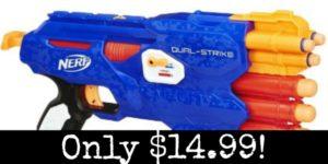 Nerf N-Strike Elite DualStrike Blaster Only $14.99!