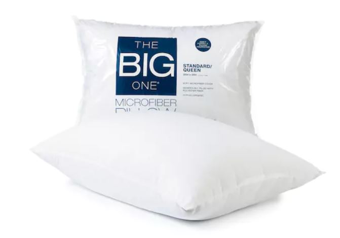The Big One Microfiber Pillows as low as $2.39!