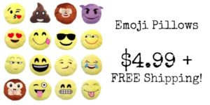 Emoji Pillows Only $4.99 + FREE Shipping!