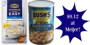 Meijer: Bush's Hummus Made Easy and Garbanzo Beans Only $0.12!