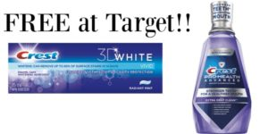 FREE Crest Mouthwash and Toothpaste at Target!