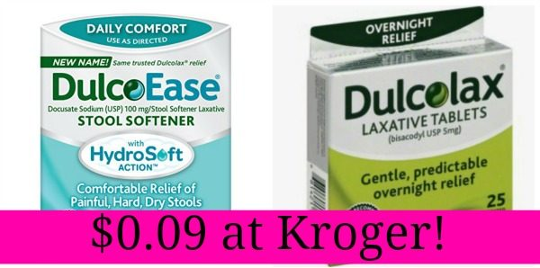 Kroger Dulcolax Products Only 0 09 Become A Coupon Queen