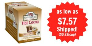Grove Square Hot Cocoa Single Serve Cups 24-count as low as $7.57 Shipped!