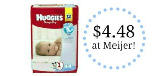 Meijer: Huggies Snug & Dry Diapers Only $4.48!