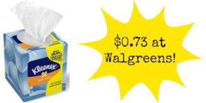 Walgreens: Kleenex Boxes Only $0.73!