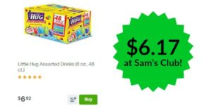 Sam's Club: Little Hug Assorted Drinks 48ct Only $6.17!