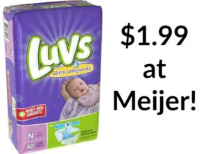 Meijer: Luvs Jumbo Pack Diapers Only $1.99!!