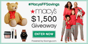 Macy's Friends and Family Giveaway AND up to 30% Savings! #MacysFFSavings #ad