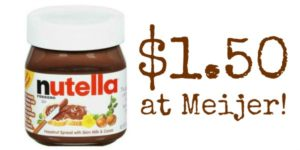 Meijer: Nutella Hazelnut Spread Only $1.50!