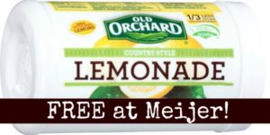 FREE Old Orchard Frozen Juice at Meijer!